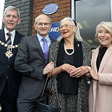 Mayor Cundy, John Wood, Pat Wood and Gilly Mackwood