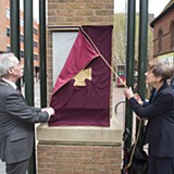 Charmian Rose, Major Willis' daughter unveiling the VC Stone